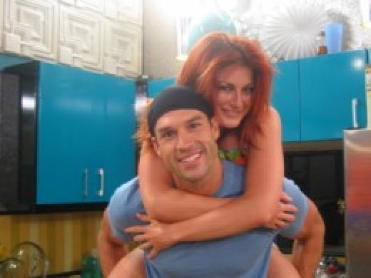 Brendon and Rachel together on Big Brother 12.