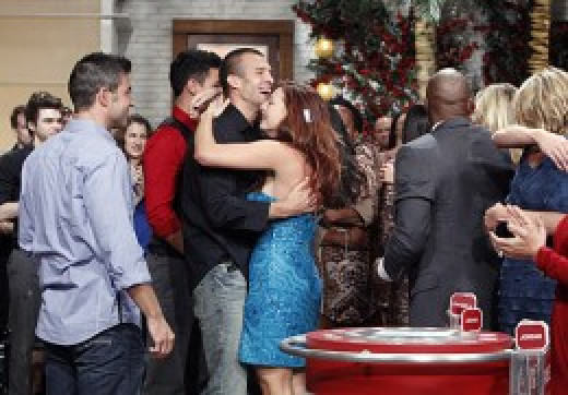 Rachel with Brendon at the season finale of Big Brother Season 13.