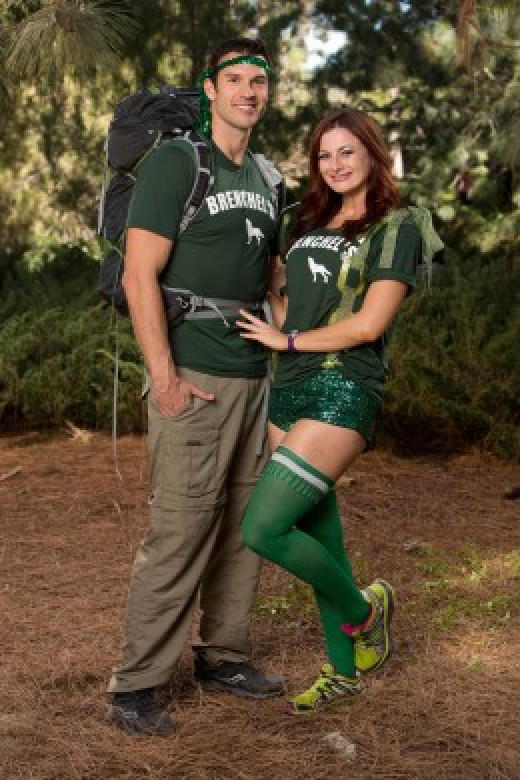 Brendon and Rachel on the Amazing Race 24.