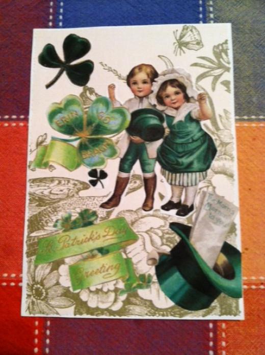 front of handmade postcard