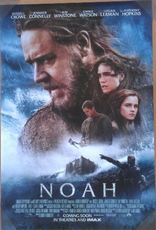 NOAH - Movie Poster - Double-Sided - 27x40 - Original - FINAL - RUSSELL CROWE - JENNIFER CONNELLY - EMMA WATSON - ANTHONY HOPKINS