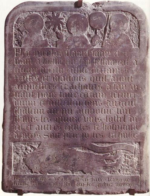 Flamel's tombstone.
