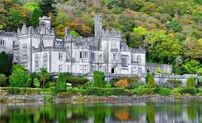 Kylemore Abbey, Connemara, county Galway, Ireland.  Photo taken from album private collection