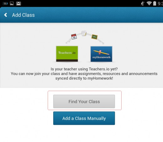 """Step 3: IF YOUR TEACHER HAS REGISTER HIS OR HER CLASS, then you can tap """"Find Your Class""""."""