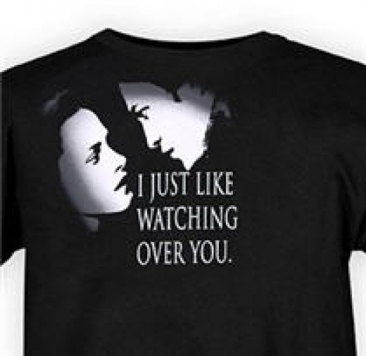 Creepy or Romantic? You decide. (Actual shirt that can be found in Hot Topic.)
