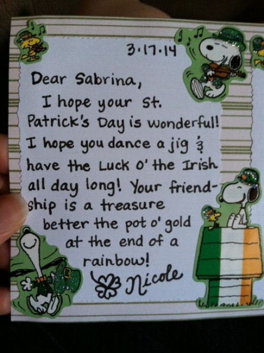 my St. Patrick's Day message