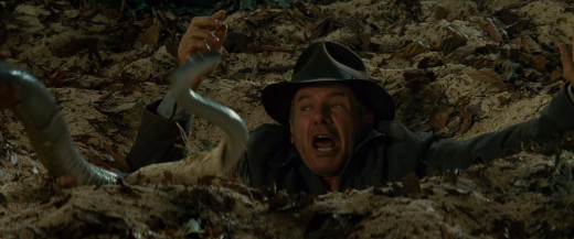Indiana Jones handled it well until he found out he'd have to use a snake to get out.