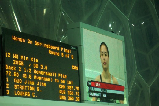 Wu Minxia won the bronze medal in this event at the 2008 Summer Olympic Games in Beijing.