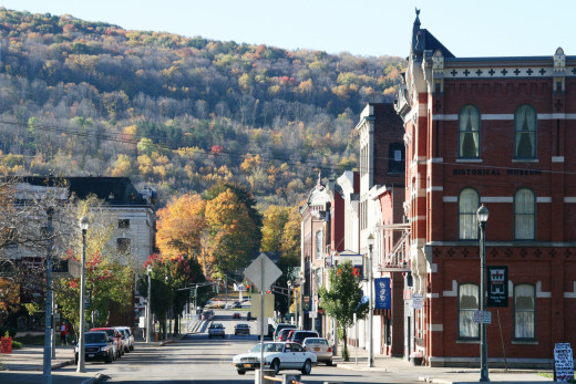 Downtown Salamanca, New York.