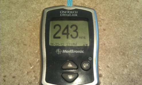 Type 1 Diabetics must test blood sugar glucose levels at least 4 times daily and manage their intake of carbohydrates and activity levels accordingly