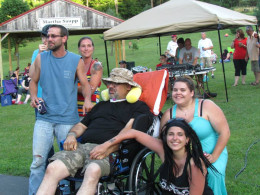My fiance's family at a benefit held to support them after their father's stroke.