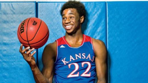 Kansas freshman forward Andrew Wiggins