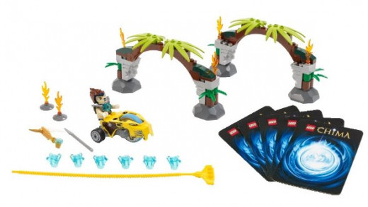 "Contents of the ""Speedorz Jungle Gates"" set"