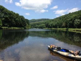 The West Branch of the Susquehanna River between Karthaus and Snow Shoe, Pennsylvania.