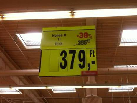 An unmissable offer in a Hungarian hypermarket