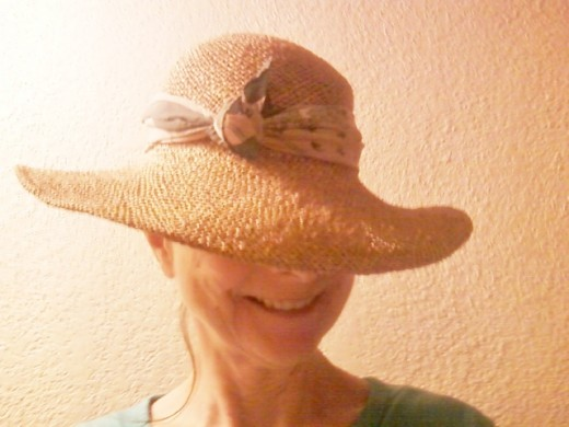 Me in my straw hat.
