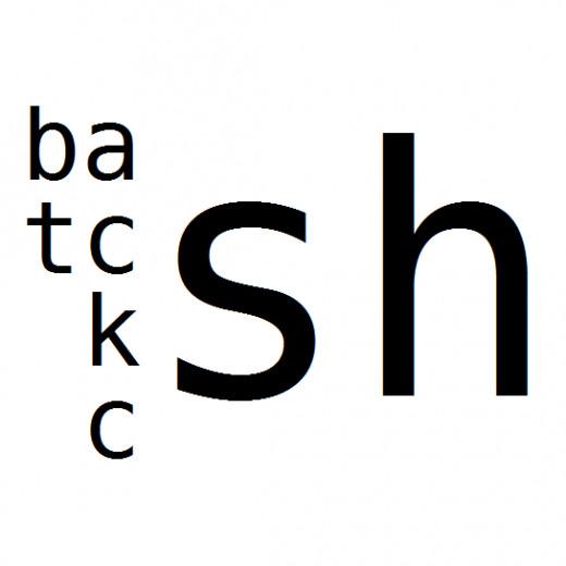 Unix shells: bash, tcsh, ksh, csh