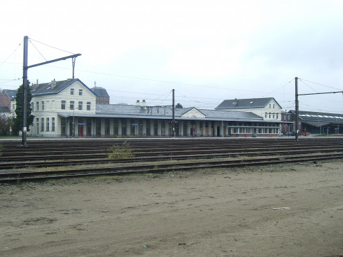 Erquelinnes Station, and rails