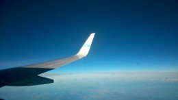Onward bound...A photo of our KLM flight, taken by my son whilst on board.