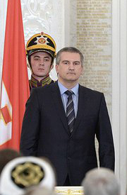 Sergey Aksyonov, Crimea's pro-Kremlin Prime Minister, whose request for assistance from Moscow initiated the tense face off between Russian and Ukraine.
