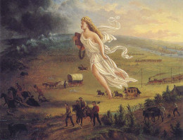 John Gast's painting displaying America's manifest destiny to expand to the other side of the continent.