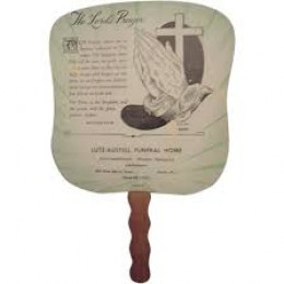 Fans similar to this were often left in the area churches which oftentimes were small in size without central air.