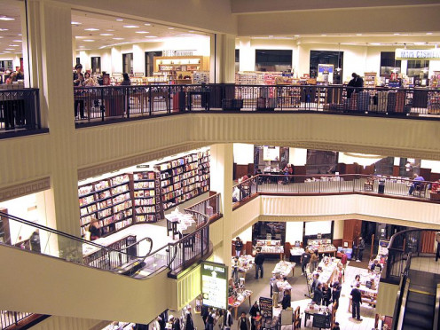 Barnes and Noble Book Store. Classically overinventoried. Large bookstores tend to have low turns and those big stacks of books aren't helping. (CC-BY 3.0)
