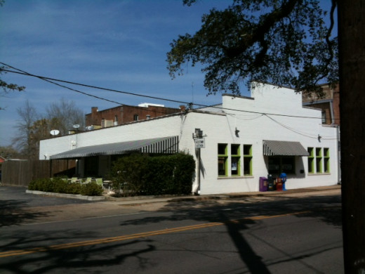 Midtown True is owned by celebrated Alabama chef, Wesley True.  It is in the Midtown section of Dauphin Street.   Another restaurant, Bistro Escoffier, is at the corner of Semmes Avenue further West.