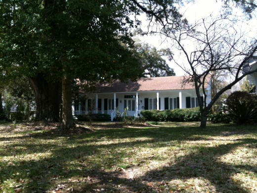 This home dates to at least 1830s and is typical of Gulf Coast homes even before that date.