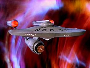 The USS Enterprise from Star Trek the original series