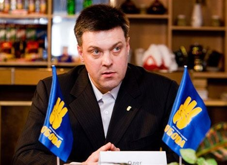 Oleh Tyahnybok, leader of the extreme right-wing, ultra-nationalist Svoboda Party,