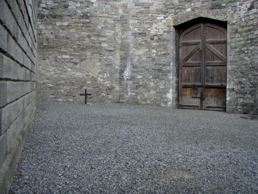 Execution yard at the Kilmainham Gaol.