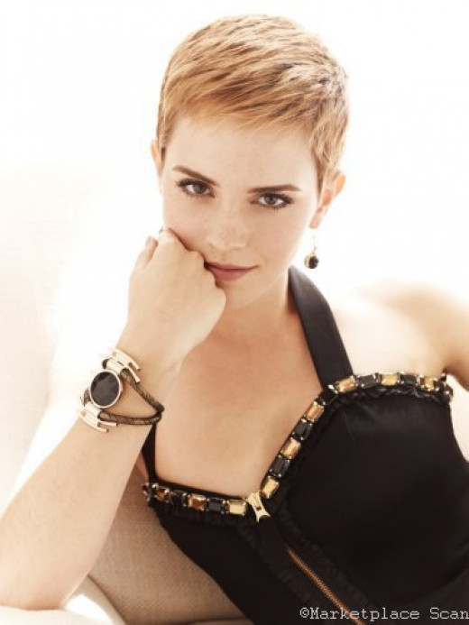 April 15, 1990 Emma Watson  Poster 24x36in cropped hair