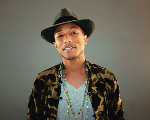 Pharrell Williams 12X18 Singer, Rapper, Producer Poster (THICK)