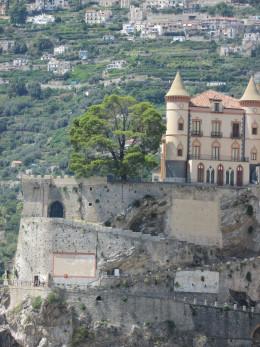 The Amalfi Coast road leads out of Maiori and onto Amalfi, a 15 minute drive.
