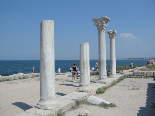 The ancient city of Chersonesos in Crimea
