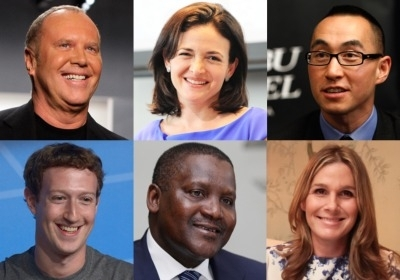 Few Billionaires from the recent Forbes List