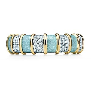 Teal Enamel with Gold Spacers and Pave Diamonds $155,000 Sold Out