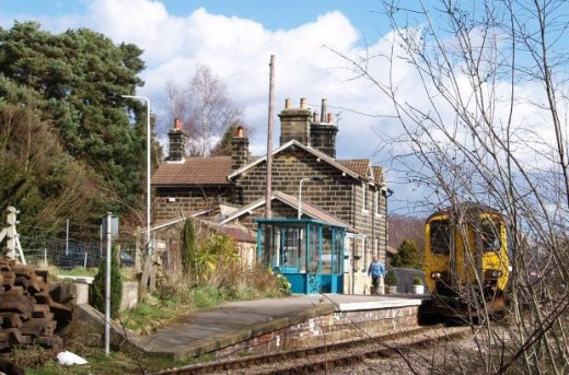 Castleton Station, stop off for a quiet drink at the pub beside the station or walk uphill into the village - again only one platform on this mainly singled branch
