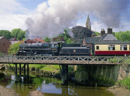 Another view of Ruswarp Station with a steam working back to Pickering from Whitby