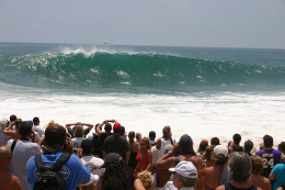 """New Port's famous boogie boarding spot """"The Wedge."""""""