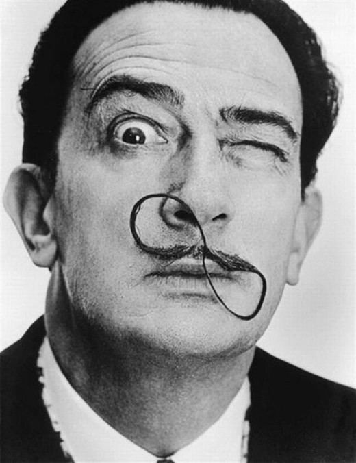 Because when you look like Salvador Dali, how can you NOT be a surrealist?