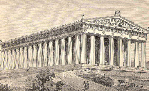 Sketch of The Parthenon