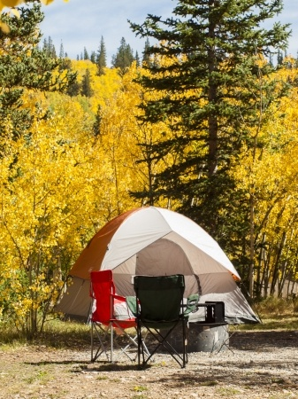 Camping chairs were originally made specifically for the rugged outdoors.