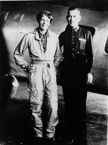Amelia Earheart with Fred Noonan