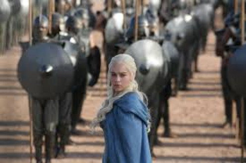 Daenerys Targaryen and her slave army