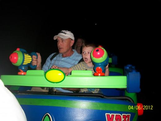 Shooting aliens at Disney with pop pop