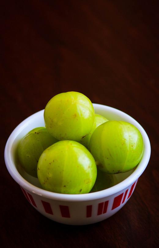 Amla fruit.