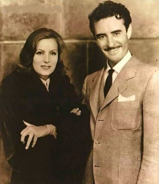 Gilbert With Greta Garbo 1935