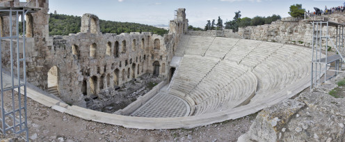 The Odeon of Herodes Atticus Athens, Greece